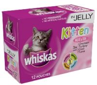 Whiskas Pouch Jelly Kitten Meat & Fish Selection