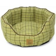 Green Tweed Oval Snuggle Bed Medium 22