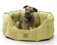Green Tweed Oval Snuggle Bed Large 26