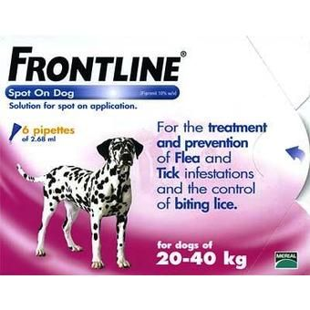 Frontline large Dog 3 Pack 20kg-40kg