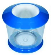Plastic Fish Bowl with Lid and Base (colours vary) 8.5L
