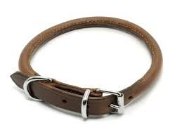 Ancol Round Leather Collar 16