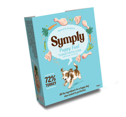 Symply Wet Food Tray Puppy Fuel Turkey & Rice 7 pack